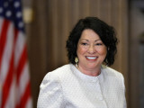 Sonia Sotomayor Arrives to Be Sworn in as First Hispanic and Third Woman in Supreme Court's History Fotografisk tryk