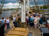 "Tourists on the Famine Ship ""Dunbrody"", Newross, County Wexford, Ireland Photographic Print"