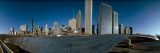 360 Degree View of a City, Millennium Park, Jay Pritzker Pavilion, Lake Shore Drive, Chicago, Cook  Fotografisk tryk af Panoramic Images