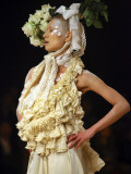 Model Displays Creation by Aya Furuhashi During Tokyo Fashion Week Photographic Print