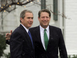 President-Elect Bush Meets with Vice President Gore at Gore's Official Residence in Washington Photographic Print