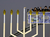 White House Chief of Staff and Rabbis Light the National Hanukkah Menorah Photographic Print