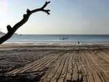 Foreign Tourist Walks Toward the Sea at Patong Beach Photographic Print