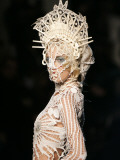 Model Wears a Creation by French Fashion Designer Jean-Paul Gaultier Photographic Print