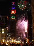 Fireworks Show is Part of the New Year Celebration Along the 16th Street Mall in Downtown Denver Photographic Print