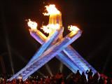 Canadian Ice Hockey Legend Wayne Gretzky as He Lights the Olympic Flame at the 2010 Winter Games Photographic Print