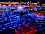 Visitors Walk Through Christmas Illuminations at a Tokyo Park, Japan Photographic Print