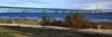 Suspension Bridge across a Strait, Mackinac Bridge, Mackinaw City, Michigan, USA Photographic Print by  Panoramic Images