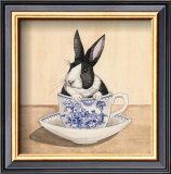 Teacup Bunny III Posters by Kari Phillips