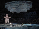 Polar Bear Rises to the Stage at the 2010 Vancouver Olympic Winter Games Opening Ceremonies Photographic Print