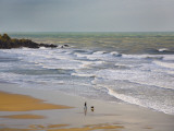 Bunmahon Strand, the Copper Coast, County Waterford, Ireland Fotografie-Druck
