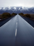 Road Connecting El Calafate with Los Glaciares National Park Through a Windshield in Argentina Photographic Print