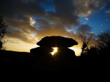 Megalithic Knockeen Dolmen, Near Tramore, County Waterford, Ireland Photographic Print