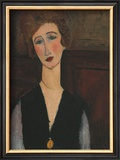 Portrait of a Woman, c.1918 Print by Amedeo Modigliani