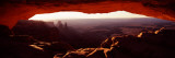 Natural Arch at Sunrise, Mesa Arch, Canyonlands National Park, Utah, USA Photographic Print by  Panoramic Images
