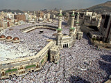 Hundreds of Thousands of Pilgrims Perform Friday Prayers at the Great Mosque in Mecca, Saudi Arabia Fotografická reprodukce