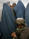 Waiting for Food and Blankets During Food Distribution by Coalition Forces in Kabul, Afghanistan Photographic Print