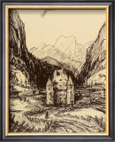 Castle Saalhof Im Pinzgau Art by Alfred Kubin