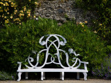 Garden Seat Bearing the Initials of the Earls of Rosse, Birr Castle, County Offaly, Ireland Photographic Print