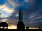 Sculpture of St Patrick, Tara, County Meath, Ireland Photographic Print