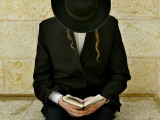 Ultra-Orthodox Jew Prays at the Western Wall in Jerusalem's Old City Photographic Print