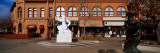 Statue in Front of Restaurant, Fort Collins, Larimer County, Colorado, USA Photographic Print by  Panoramic Images