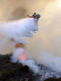 Los Angeles City Fire Helicopter Drops Water on a Hot Spot in the Angeles National Forest Photographic Print