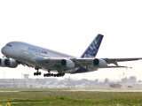 Airbus A380, the World&#39;s Largest Passenger Plane, Takes Off Successfully on its Maiden Flight Photographic Print