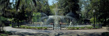 Fountain in a Park, Forsyth Park, Savannah, Chatham County, Georgia, USA Photographic Print by  Panoramic Images
