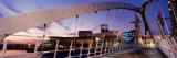 Footbridge in City, Salford Quays Millennium Footbridge, Salford Quays, Greater Manchester, England Photographic Print by  Panoramic Images