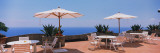 Patio Umbrellas in a Cafe, Positano, Amalfi Coast, Salerno, Campania, Italy Photographic Print by  Panoramic Images