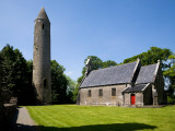 7th Century Timahoe Church and 12th Century Round Tower, Timahoe, County Laois, Ireland Photographic Print