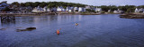 View of Two People Kayaking in the Sea, Boothbay Harbor, Lincoln County, Maine, USA Photographic Print by  Panoramic Images