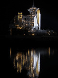 Space Shuttle Discovery Sits on a Launch Pad at the Kennedy Space Center in Cape Canaveral Photographic Print