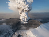 Crater at the Summit of the Volcano in Southern Iceland's Eyjafjallajokull Glacier Photographic Print