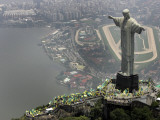 Waving Flags in Rio De Janeiro after Brazil Was Officially Chosen by Fifa as Host of 2014 World Cup Photographic Print