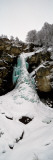 View of a Frozen Waterfall, Valais Canton, Switzerland Photographic Print by  Panoramic Images