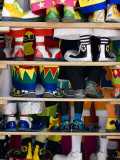 Group Photo of Clowns' Shoes at a Week Long Latin American Clown Convention in Mexico City Lámina fotográfica