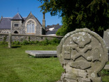Macabre Grave Stones, St Tighearnach's Monestry, Clones, County Monaghan, Ireland Photographic Print