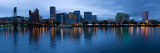 Skyline Seen from Vera Katz Eastbank Esplanade, Willamette River, Portland, Oregon Photographic Print by  Panoramic Images