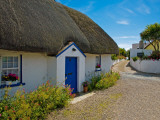 Traditional Thatched Cottage, Kilmore Quay, County Wexford, Ireland Photographic Print