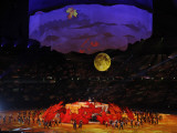 Performers Dance around Large Maple Leafs at Opening Ceremonies for Olympic Winter Games, Vancouver Photographic Print
