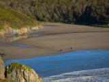 Walkers on Stradbally Strand, the Copper Coast, County Waterford, Ireland Photographic Print