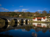 Avonmore Bridge over the Blackwater River and Cappoquin Rowing Club Boathouse, Cappoquin, Ireland Photographic Print