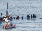 Passengers in an Inflatable Raft, Moving Away from a US Aircraft That Has Gone Down in Hudson River Photographic Print