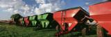 Farm Equipment in a Field, York, York County, Nebraska, USA Fotografisk tryk af Panoramic Images