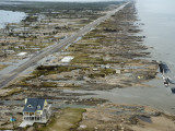 Beachfront Home Stands Among the Debris in Gilchrist, Texas after Hurricane Ike Hit the Area Photographic Print