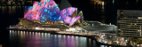 Opera House Lit Up at Night, Sydney Opera House, Sydney, New South Wales, Australia Photographic Print by  Panoramic Images
