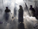 Christians Burn Incense During a Holy Week Procession in Guatemala City Photographic Print