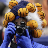 Taking a Photo at the Wade Trophy Presentation of the NCAA Women's College Basketball Tournament Photographic Print